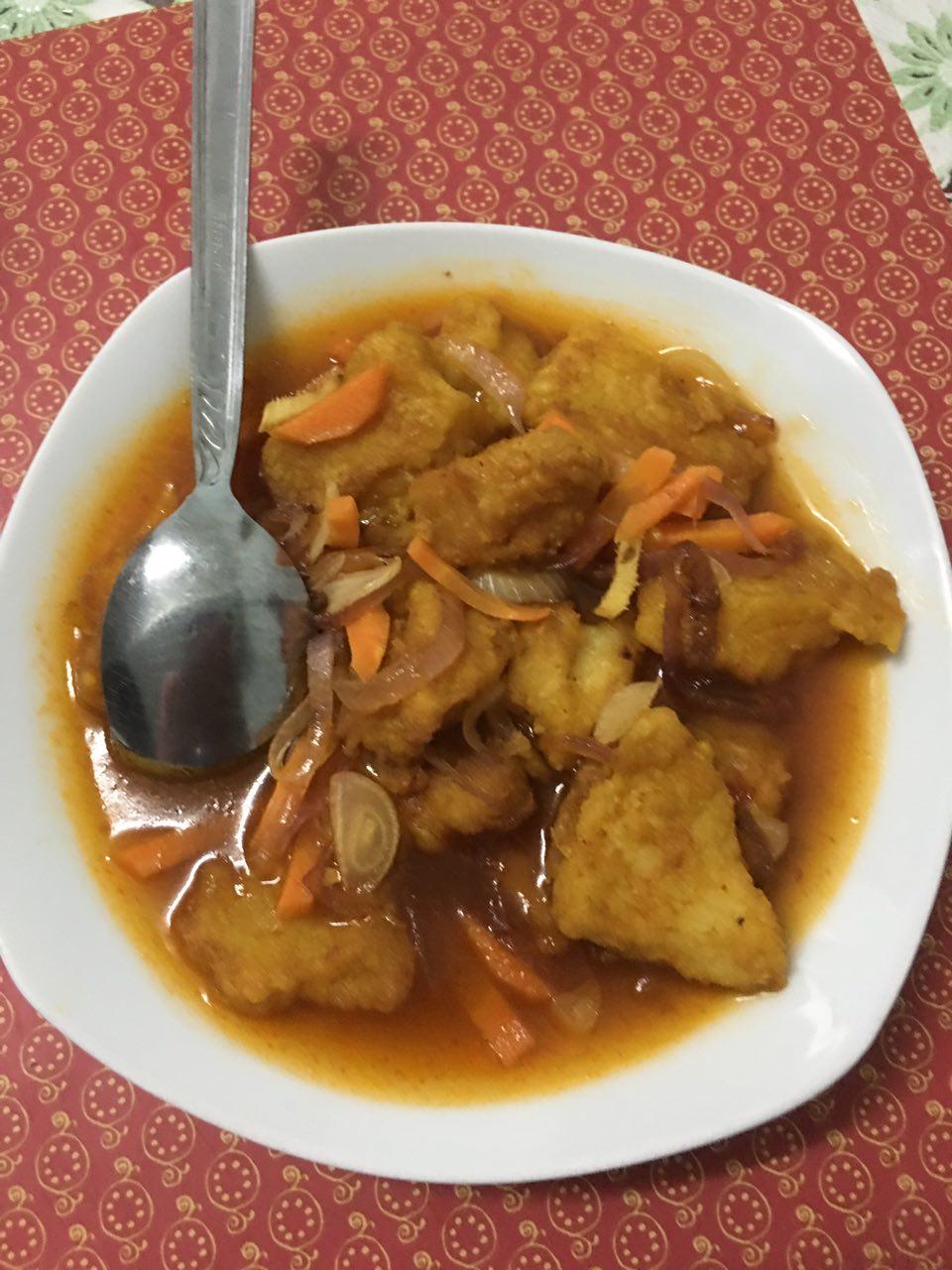 ikan dory masak sos, resepi menggunakan ikan dory, cara masak ikan dory