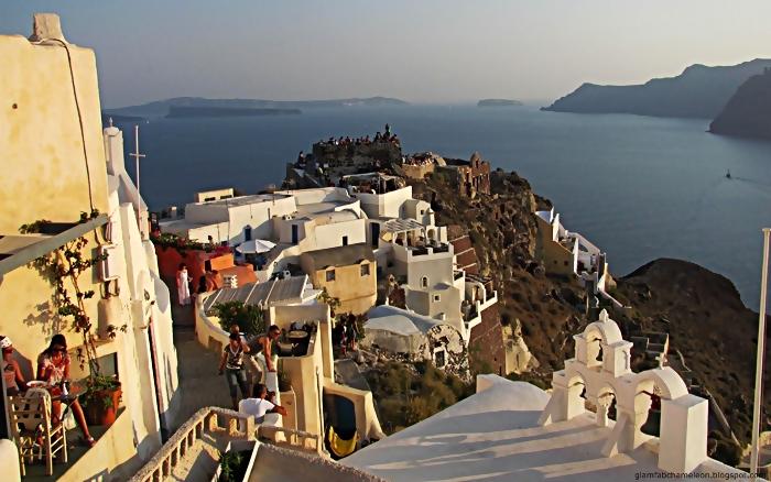 zalazak sunca na ostrvu Santorini slike
