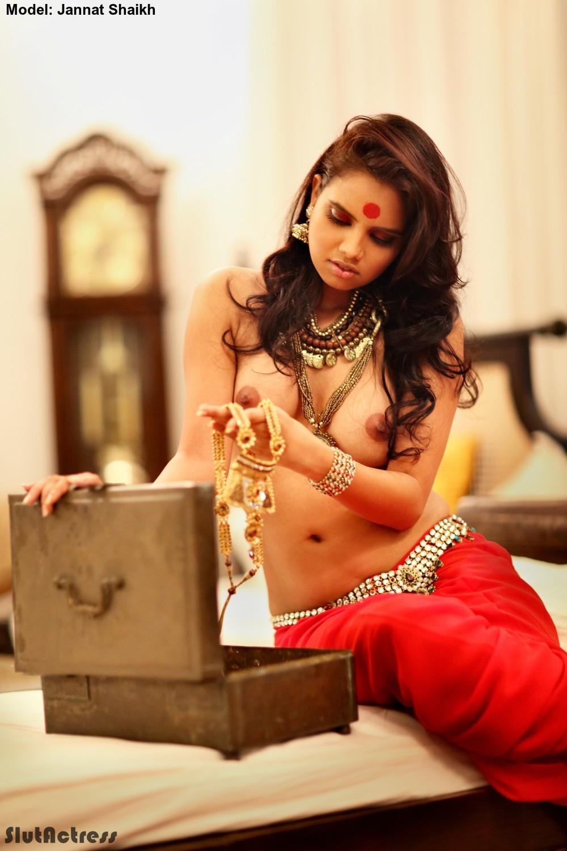 Jannat Shaikh Hot Desi Model Topless Photoshoot Exposing -6686