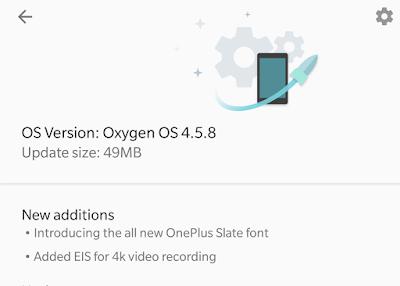Oneplus 5 got Oxygenos 4.5.8 update