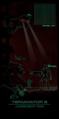 Thought Bubble 2017 Exclusive Terminator 2 Judgement Day Movie Poster Glow in the Dark Variant Screen Print by Matt Ferguson x Vice Press