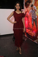 Pragya Jaiswal in Stunnign Deep neck Designer Maroon Dress at Nakshatram music launch ~ CelebesNext Celebrities Galleries 013.JPG