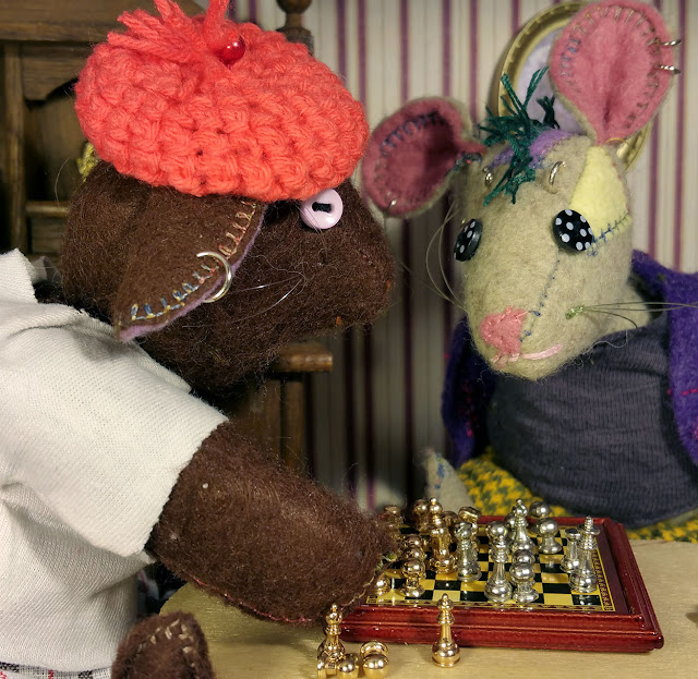 partie d'echecs- chess board