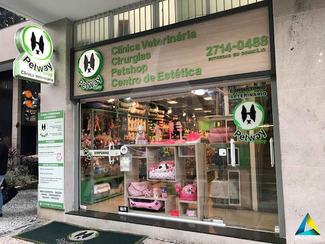 fachada projeto arquitetura loja petway pet shop