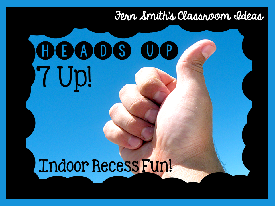 Fern SMith's Classroom Ideas #FREE Heads Up 7-Up Directions Perfect for Indoor Recess