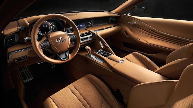 Interior view of 2018 Lexus LC 500h