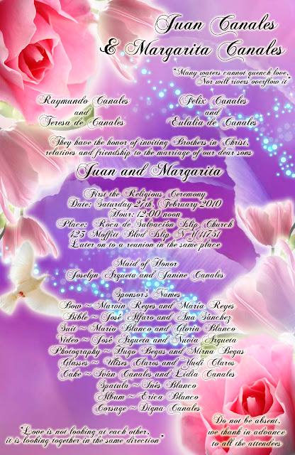 Invitación para Bodas elegante y novedosa morado lila con rosas rosadas y tulipanes rosa
