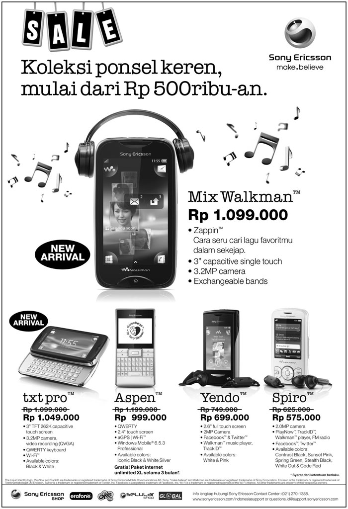5 Ponsel Sony Ericsson Termurah