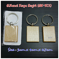 Gantungan Kunci Kayu GK-K01