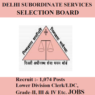 Delhi Subordinate Services Selection Board, DSSSB, freejobalert, Sarkari Naukri, Latest Jobs, Hot Jobs, LDC, Lower Division Assistant, 10th, Delhi, Assistant, Grade-IV, dsssb logo