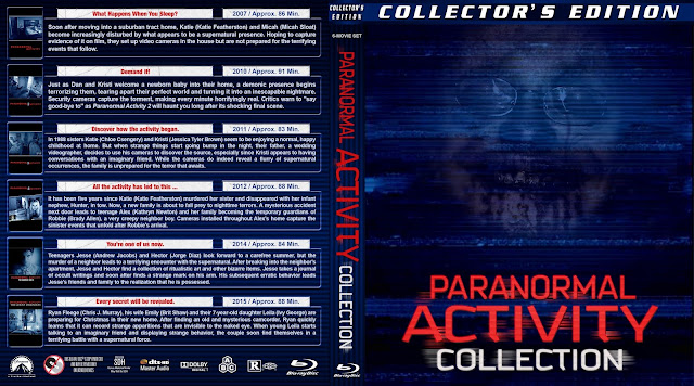 Paranormal Activity Collection Bluray Cover