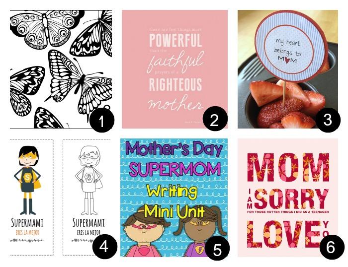 12 imprimibles gratis para el día de la madre. Listos para descargar