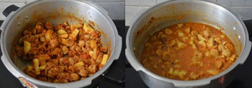 Soya Nuggets Aloo Curry