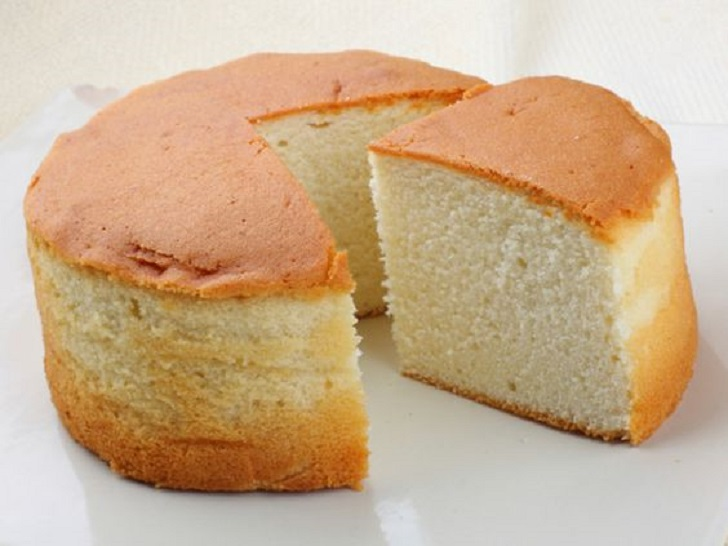 Vanilla Sponge Cake Without Butter and Eggs