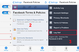 How do I log out of the iPhone or iPad app? Facebook Logout