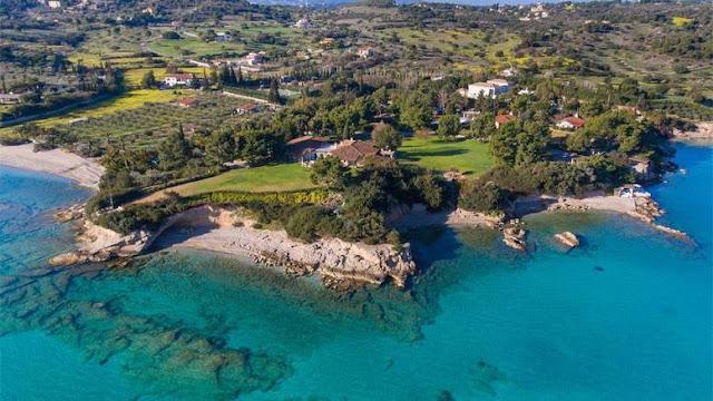 Το ακριβότερο σπίτι στην Ελλάδα των 20 εκατ.ευρώ στο απέραντο γαλάζιο της Αργολίδας (βίντεο drone)