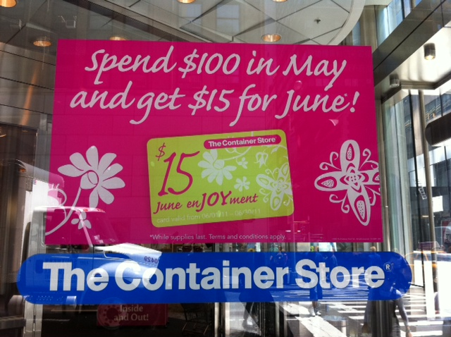 Container store coupon code