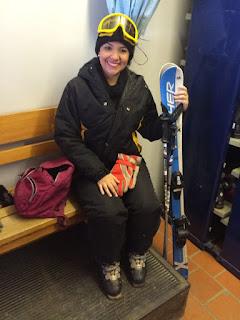 preparação para a aula de esqui na neve no Cerro Catedral em Bariloche