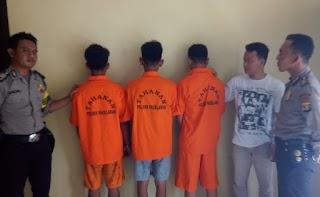 Tiga Tersangka Spesialis Pencuri Hanphone di Pagelaran Berhasil Ditangkap