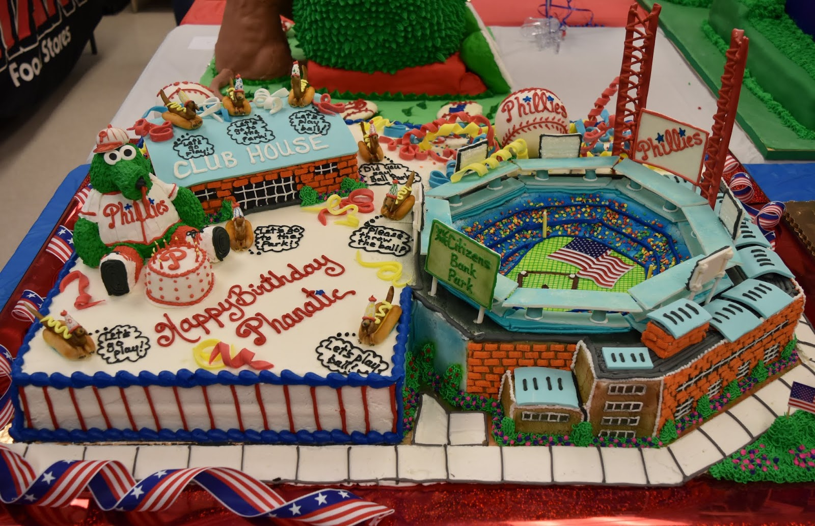 Incredible Batter Up Giant Food Store Bakery Specialists Celebrate Phillie Personalised Birthday Cards Sponlily Jamesorg