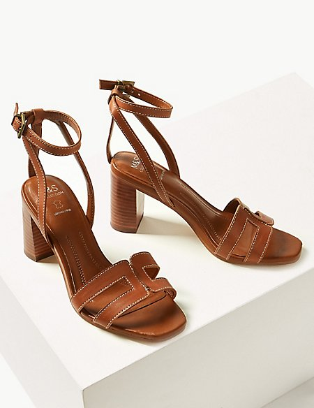 marks and spencer leather ankle strap sandals