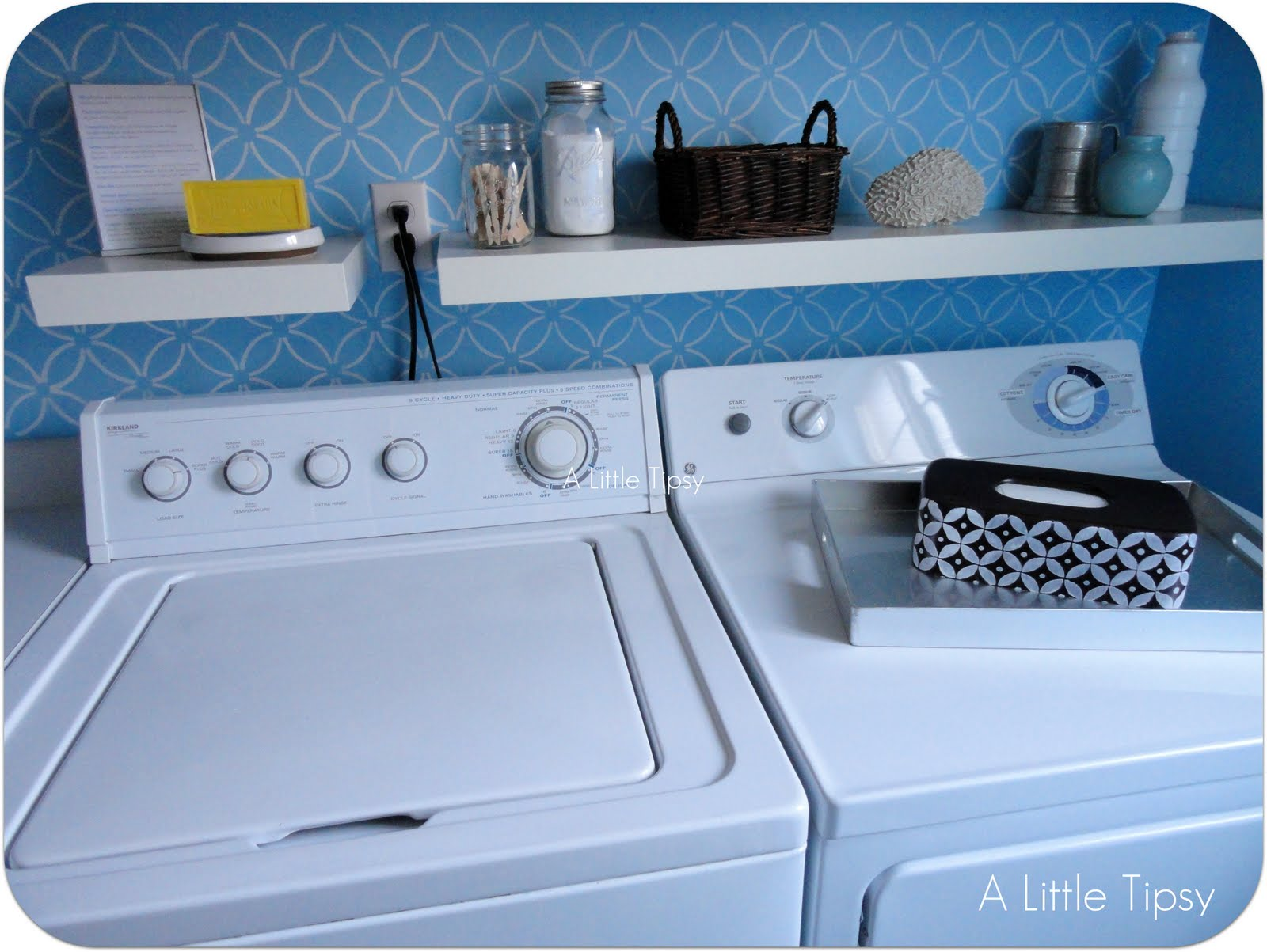 Laundry Room: Three Projects Under $5 - A Little Tipsy