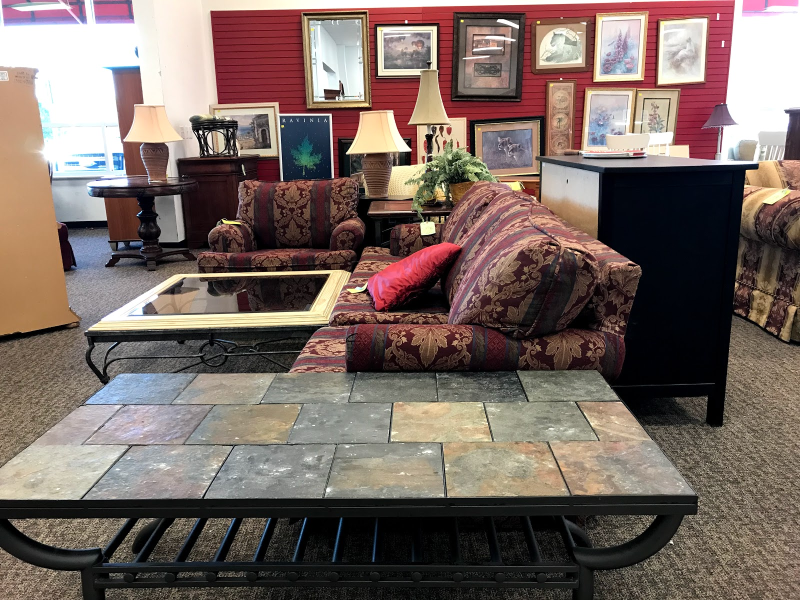Furniture at the thrift store: Salvation Army