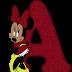 Alfabeto de Minnie en Rojo.