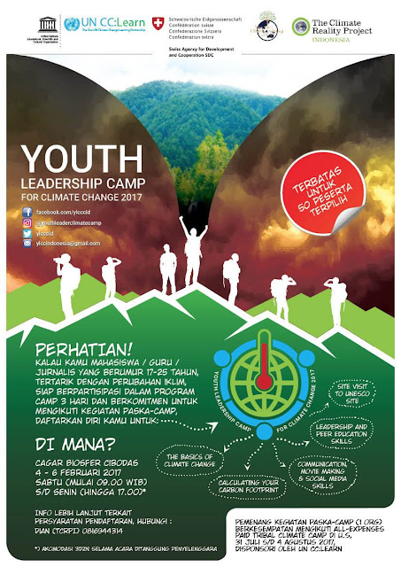 Call for Participants : Youth Leadership Camp for Climate Change 2017 Indonesia