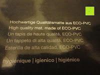 """ECO-PVC: Yogamatte """"Yoganidra"""" Die ideale Yoga- und Gymnastikmatte für Yoga-Einsteiger. Maße: 183 x 61 x 0,4cm / Bambus"""