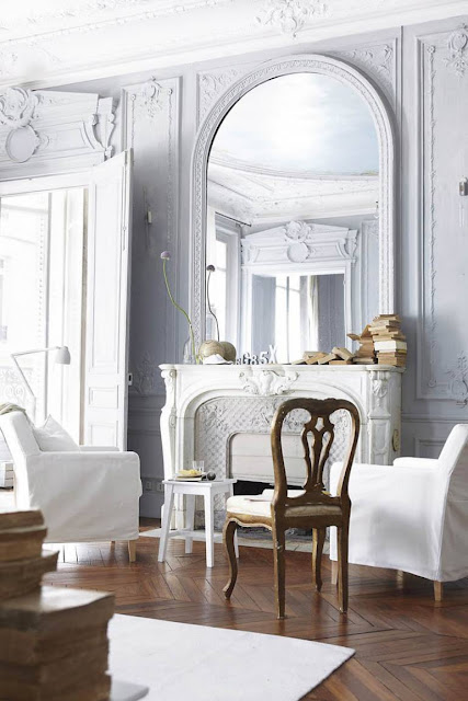 french inspired molding home decor