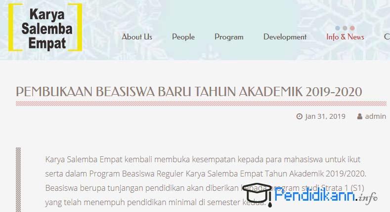 Info Syarat Pendaftaran Beasiswa KSE Terbaru