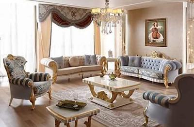 kursi sofa mewah untuk ruang tamu