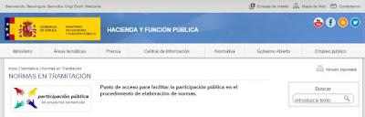 http://www.minhafp.gob.es/es-ES/Normativa%20y%20doctrina/NormasEnTramitacion/Paginas/normasentramitacion.aspx