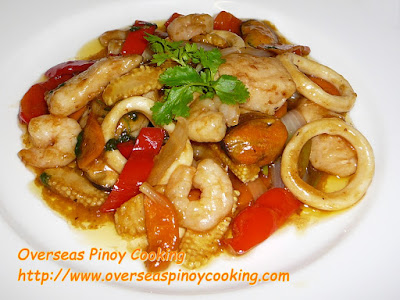 Mix Seafood Strifry with Oyster Sauce