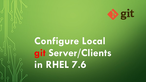 Git Configure Local git Server Clients in RHEL 7.6