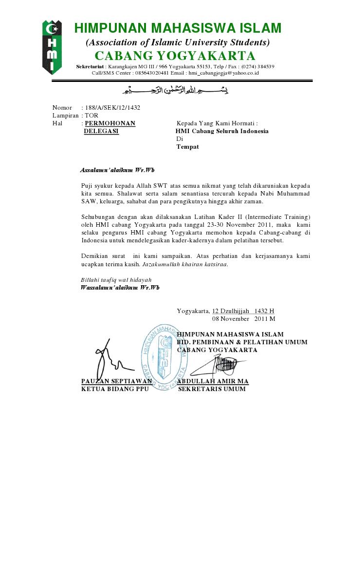 Contoh Surat Delegasi Himpunan Surat 31