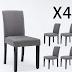 DAGONHIL Dining Chairs Fabric Kitchen Parson Chair