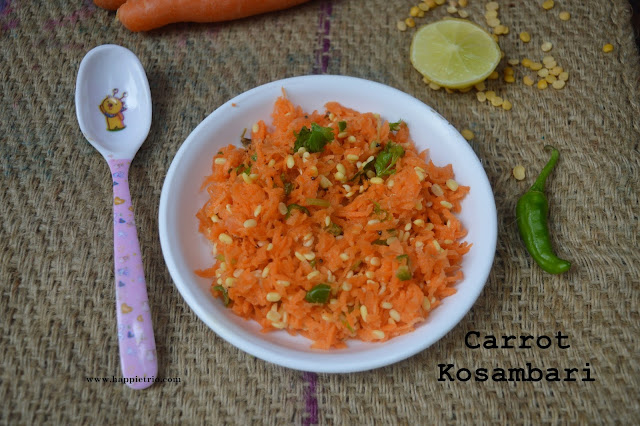 Carrot Kosambari Recipe | Carrot Moong Dal Salad