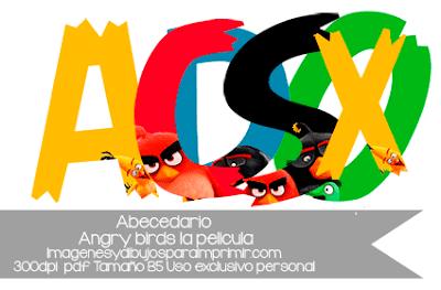 abecedario de angry birds