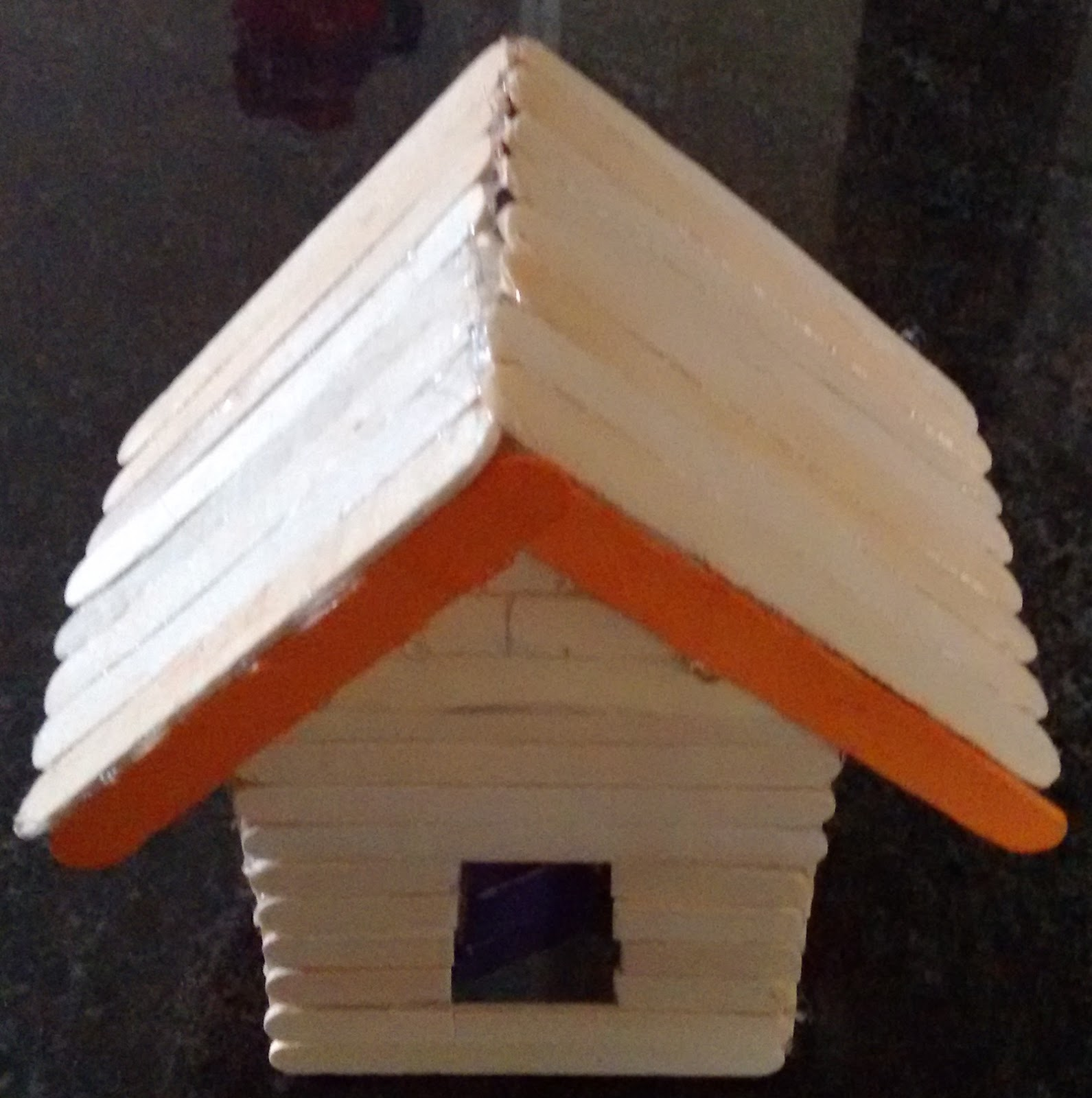 Art And Craft Popsicle Stick House