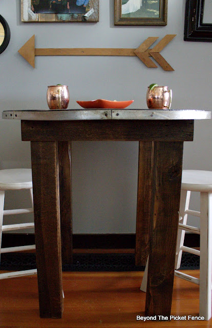 make a cozy cafe table from an old cable spool