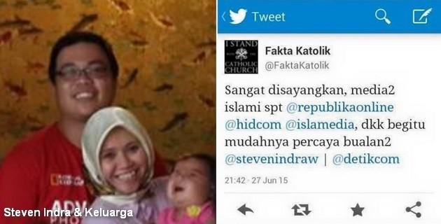 Dibongkar Penipuan Steven Indra oleh @FaktaKatolik, Sekjen Mualaf Center Tantang Gereja Katolik