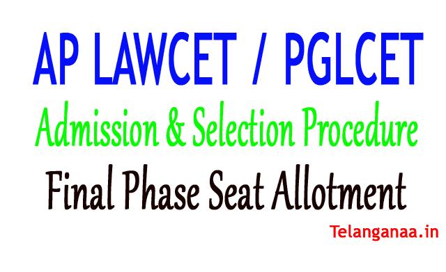 AP LAWCET - AP PGLCET Seat Allotment