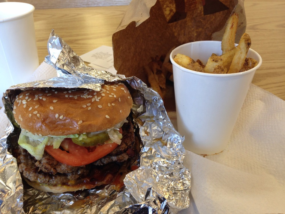 Don't Go on a Diet This Year - Five Guys Burger and Fries
