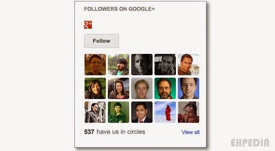 Cara Memasang Google+ Follower Widget Pada Blog