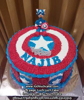 Kue Tart Buttercream Murah Kapten Amerika