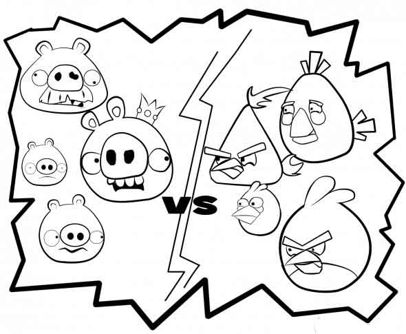 Game Coloring Pages Angry Bird