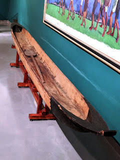 Shuar dugout canoe