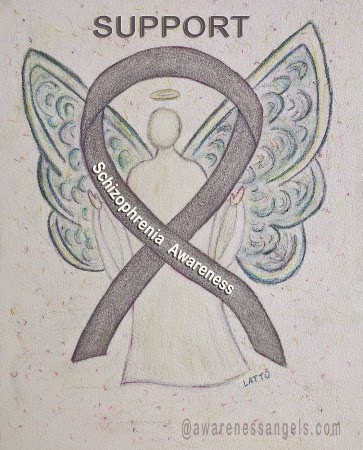 Silver Ribbon Schizophrenia Awareness Angel
